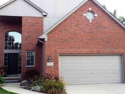 Shelby Twp Condo/Townhouse For Sale: 4196 Summer Place