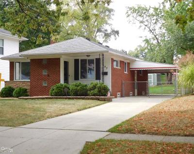 Mount Clemens Single Family Home For Sale: 347 Cambridge