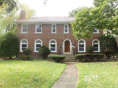 Grosse Pointe Park Single Family Home For Sale: 1349 Devonshire