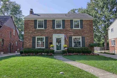 Grosse Pointe Park Single Family Home For Sale: 1335 Audubon