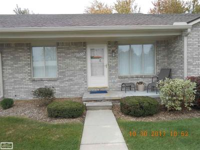 Clinton Township Condo/Townhouse For Sale: 22173 Glenwood