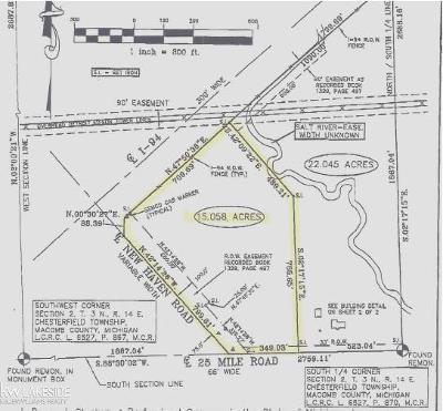 Chesterfield Twp Residential Lots & Land For Sale: 25 Mile Rd