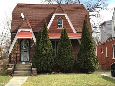 Detroit Single Family Home For Sale: 14914 Monte Vista