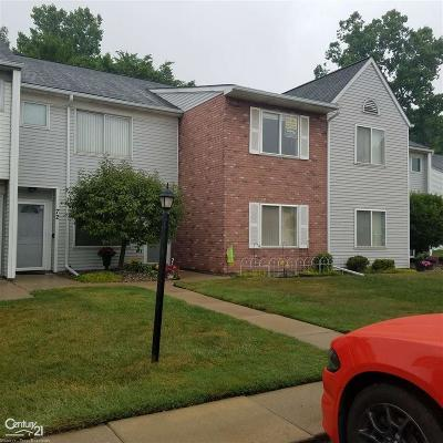 Mount Clemens Condo/Townhouse For Sale: 72 Rosebud