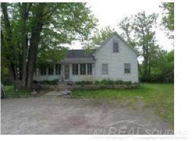 Wales Single Family Home For Sale: 7627 Lapeer