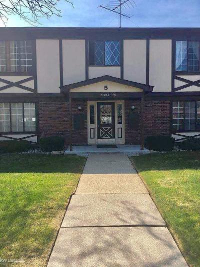 Saint Clair Shores Condo/Townhouse For Sale: 22811 Grove Street