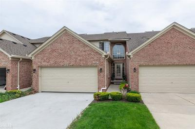 Shelby Twp Condo/Townhouse For Sale: 55388 Boardwalk