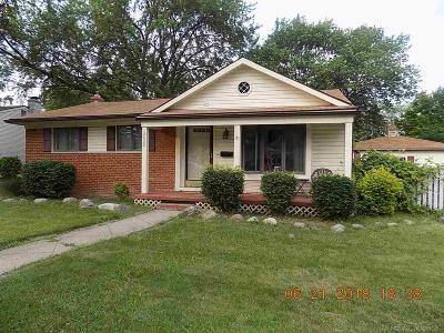 Sterling Heights MI Single Family Home For Sale: $184,900