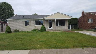 Sterling Heights MI Single Family Home For Sale: $189,900