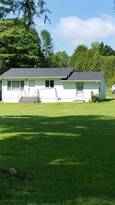 Harbor Beach MI Single Family Home For Sale: $145,000