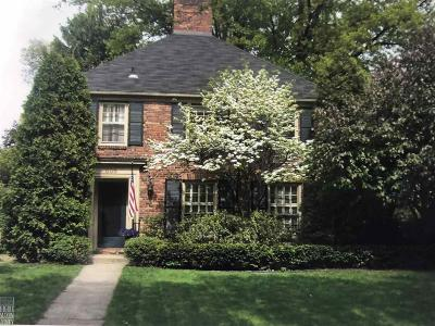Grosse Pointe Single Family Home For Sale: 608 Washington Rd
