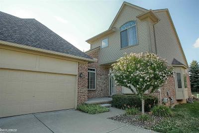 Clinton Township Condo/Townhouse For Sale: 17367 Breckenridge