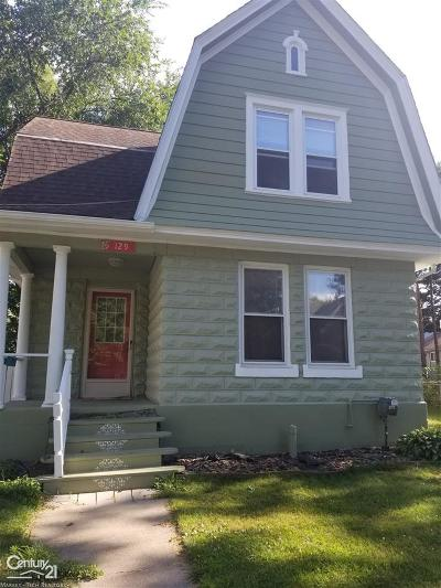 Mount Clemens Single Family Home For Sale: 129 Lincoln
