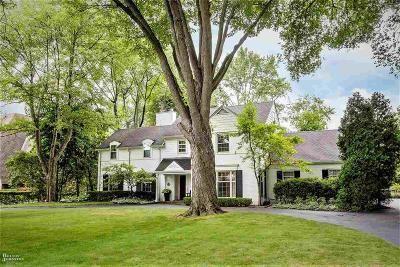 Grosse Pointe Park Single Family Home For Sale: 1017 Buckingham