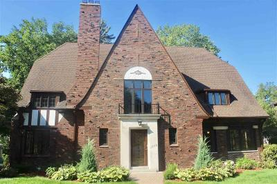 Grosse Pointe Park Single Family Home For Sale: 1245 Three Mile