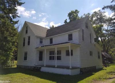 Lapeer Single Family Home For Sale: 441 W Barnes Lake Road