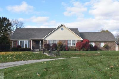 Romeo, Richmond Single Family Home For Sale: 32101 32 Mile Rd