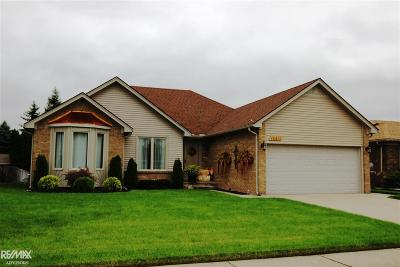 Clinton Township Single Family Home For Sale: 18413 Hearthside