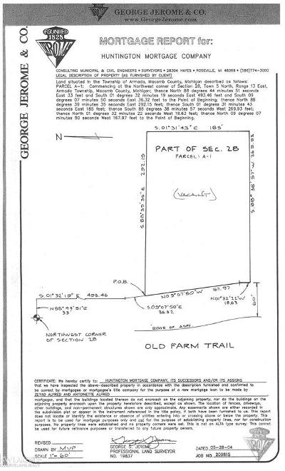Armada, Armada Twp Residential Lots & Land For Sale: 72780 Old Farm Trail