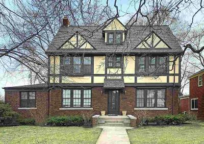 Grosse Pointe Park Single Family Home For Sale: 1432 Bedford Road