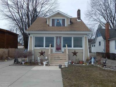 Algonac  Single Family Home For Sale: 9890 N River