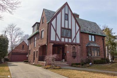 Grosse Pointe Park Single Family Home For Sale: 1133 Bishop Rd