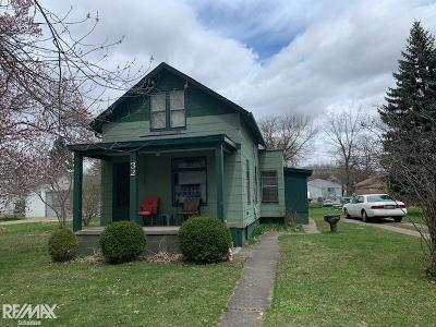 Mount Clemens Single Family Home For Sale: 32 High