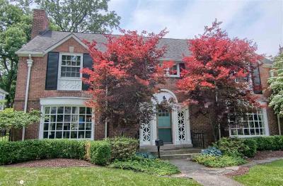 Grosse Pointe Park Single Family Home For Sale: 1031 Harvard