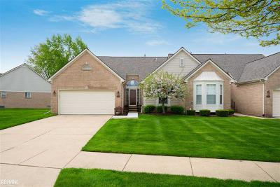 Sterling Heights Condo/Townhouse For Sale: 44155 Kendyl