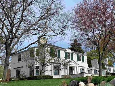 Grosse Pointe Farms Single Family Home For Sale: 227 Lake Shore Road
