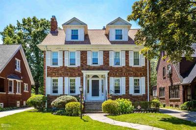 Grosse Pointe Single Family Home For Sale: 765 Washington