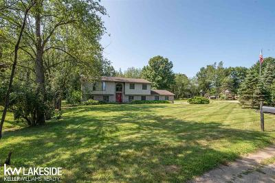 Lapeer Single Family Home For Sale: 4825 Apache Trl