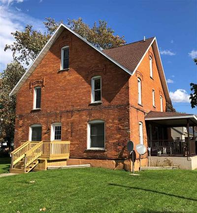 Marlette MI Single Family Home For Sale: $69,900