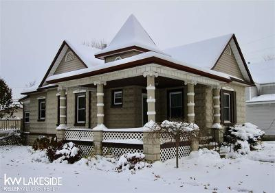 Capac MI Single Family Home For Sale: $120,000
