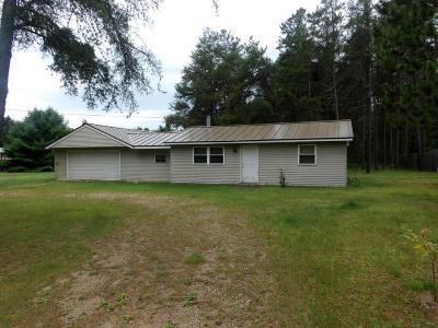 Single Family Home For Sale: N11399 Deer Lake Road