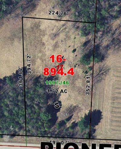 Menominee County, Marinette County Residential Lots & Land For Sale: Pioneer Road