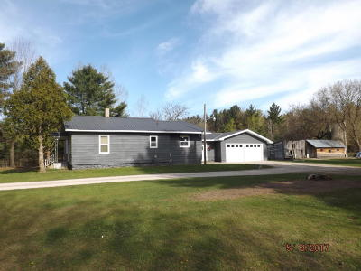 Single Family Home For Sale: W3587 Grasser Road