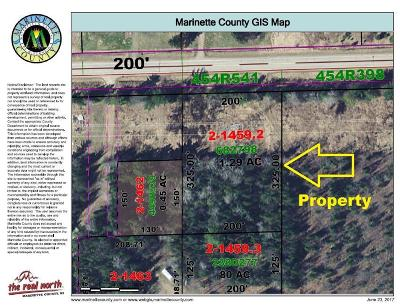 Menominee County, Marinette County Residential Lots & Land For Sale: County Road K