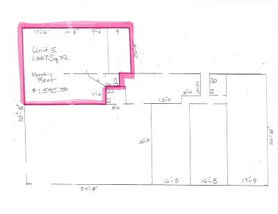 Petoskey MI Commercial Lease For Lease: $1,200