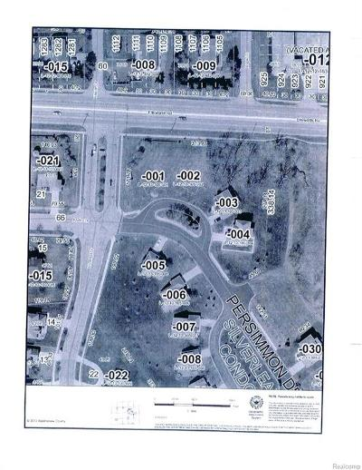 Pittsfield, Pittsfield Twp Residential Lots & Land For Sale: 4025 Persimmon