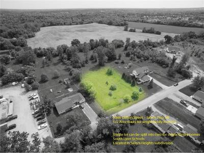 Milan Twp, Salem, Salem Twp, Milan, Milan Township Residential Lots & Land For Sale: 9366 Clifton Street