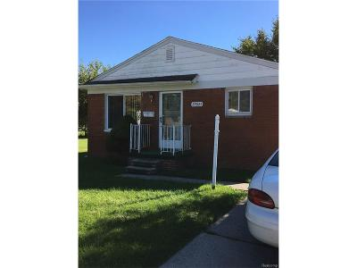 Westland MI Single Family Home For Sale: $72,000