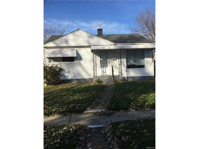 Warren MI Single Family Home For Sale: $73,500