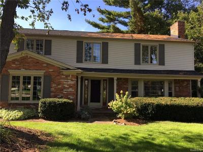 Birmingham, Bloomfield Hills Single Family Home For Sale: 535 Whitehall Road