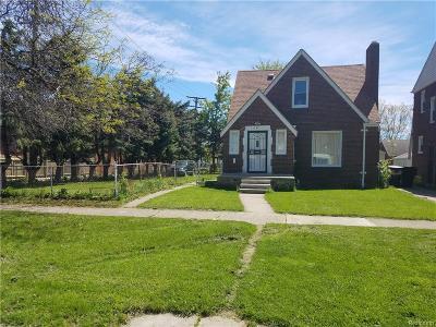 Detroit Single Family Home For Sale: 11116 Whitehill Street
