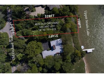 Orchard Lake Residential Lots & Land For Sale: 4825 Old Orchard Trail