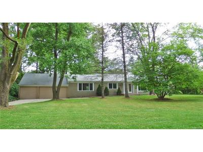 Single Family Home For Sale: 6160 Old Orchard Drive
