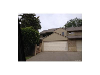 West Bloomfield, West Bloomfield Twp Condo/Townhouse For Sale: 4089 Foxpointe Drive