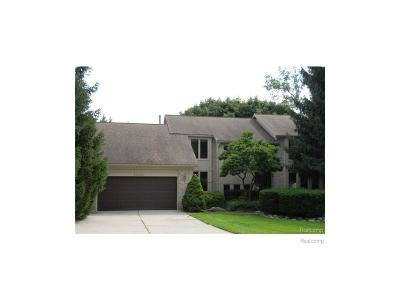 Northville Single Family Home For Sale: 42021 Pon Meadow