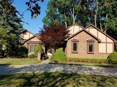 West Bloomfield, West Bloomfield Twp Single Family Home For Sale: 5277 Waterview Drive
